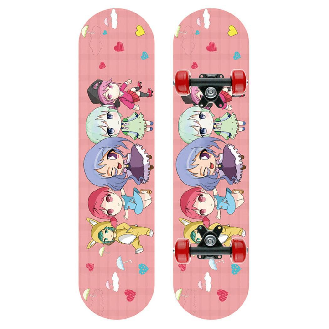 Children Drop Down Long Board Complete 11cm Skateboard Cruiser Suitable For 2-8 Years Old Skateboard