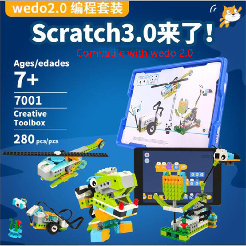 Новинка 2020, высокотехнологичный Строительный набор WeDo 3,0 для робототехники, строительные блоки, совместимые с logoes Wedo 2,0, развивающие игрушки...