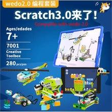 2020 nova técnica wedo 3.0 robótica construção conjunto blocos de construção compatível com logoes wedo 2.0 educacional brinquedos diy