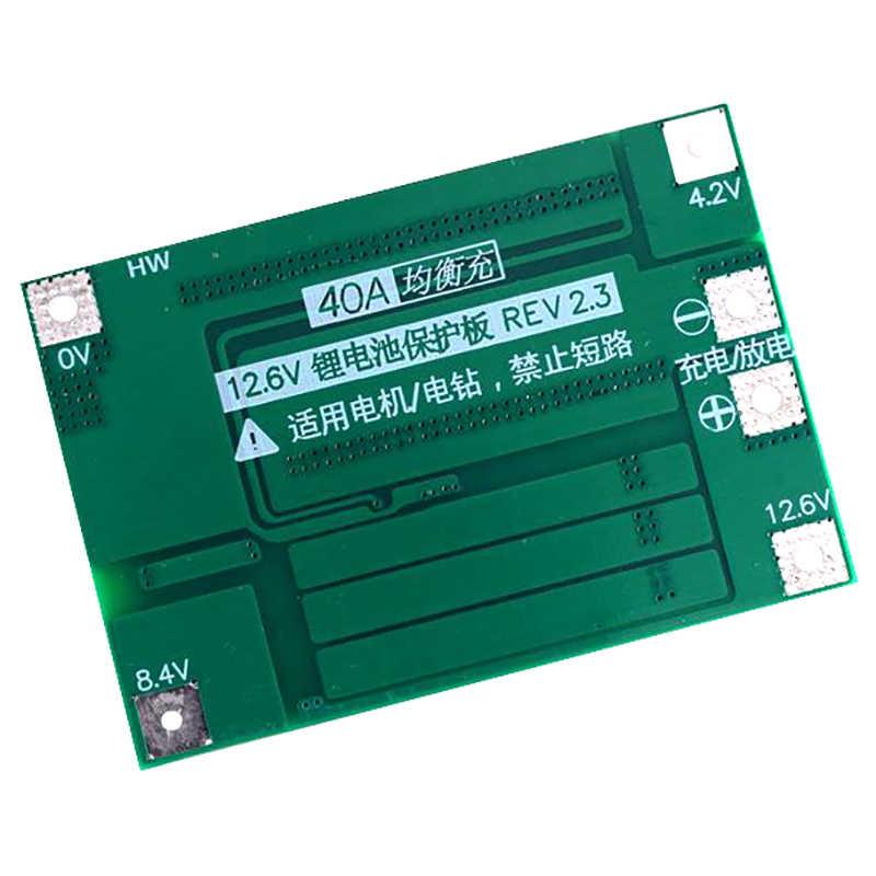 Placa de protección de batería de litio AABB-3S 40A Bms 11,1 V 12,6 V 18650 con versión equilibrada para corriente de taladro 40A