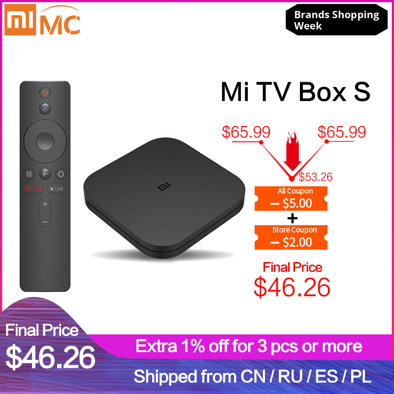 Xiaomi Tv-Box Iptv-Set Netflix Cast 4-Media-Player WIFI Android Global Google Ultra Original