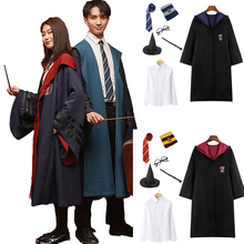 Robe Cape Cloak With Tie Scarf Wand Potter Glasses Ravenclaw Gryffindor Hufflepuff Slytherin Costume Adult Cosplay