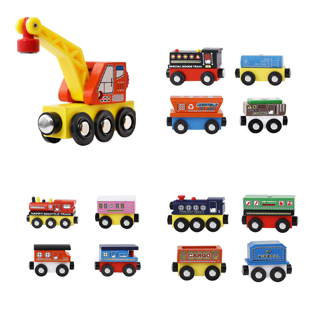 Replacement For Wooden Track Small Train Set Crane Toy Children Boys Holiday Birthday Gift