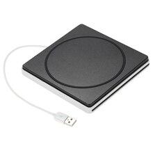 USB 2,0 портативный ультра тонкий внешний слот-в CD DVD rom плеер привод писатель горелки ридер для IMac/MacBook Air/Pro Lapto