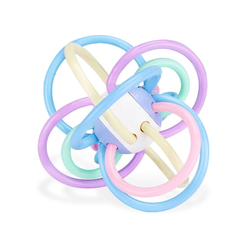 0-12 Months Newborn Manhattan Ball Safe Soft Sensory Teething Infants Baby Toys