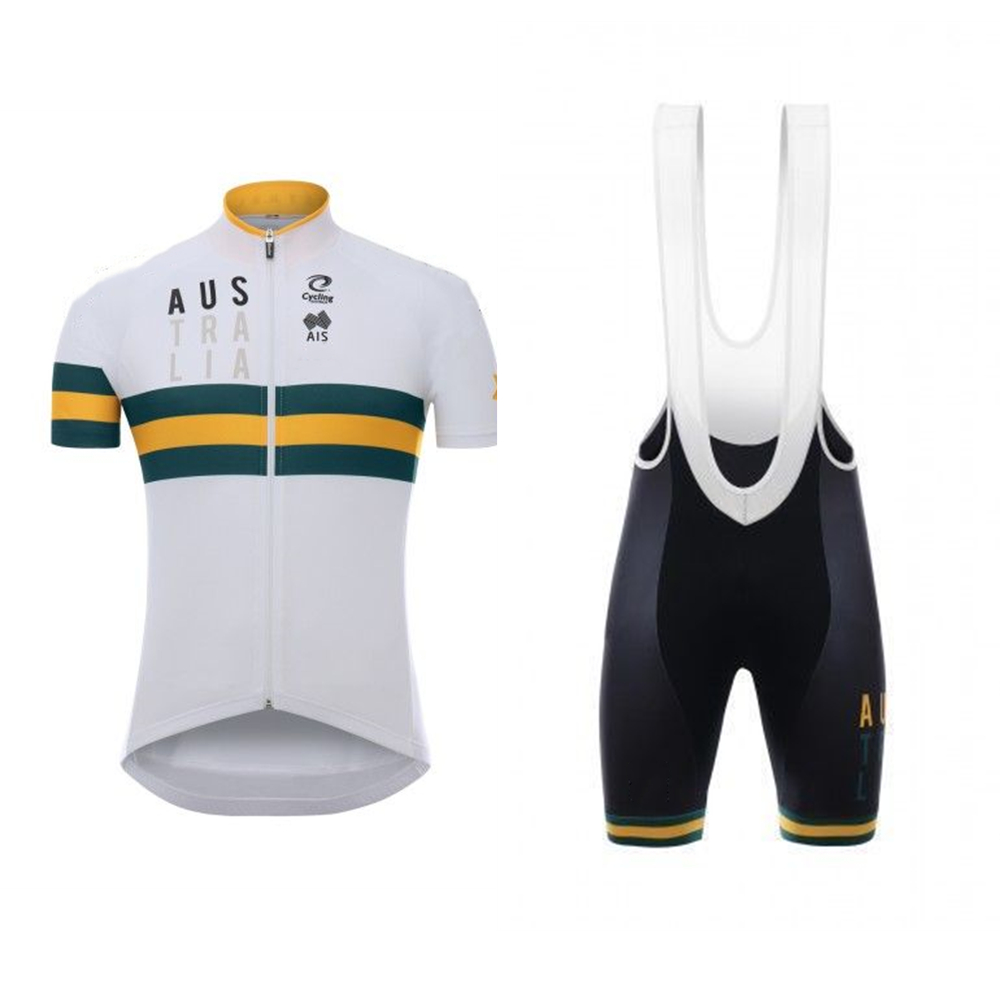 AUSTRALIA 2020 Cycling Team Clothing Men's Short Sleeve Jersey Sets Summer Bike Wear Roupa Ciclismo Quick-dry Bicycle Apparel