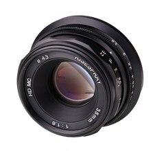 Risespray mini 35mm f1.6 lente da câmera APS-C lente fixa manual para olympus para panasonic m4/3 câmera venda quente