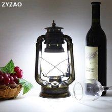 Lámpara de mesa LED recargable Estilo Vintage, Industrial retro europeo, creativa lámpara de queroseno decorativa para cafetería o restaurante