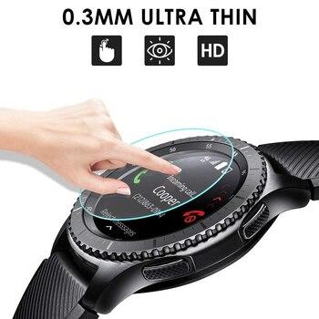 Galaxy ver 46mm para Samsung Gear S3 de deporte banda S2 Protector de pantalla 9H 2.5D de vidrio templado S 3 frontera Galaxy reloj de 42mm