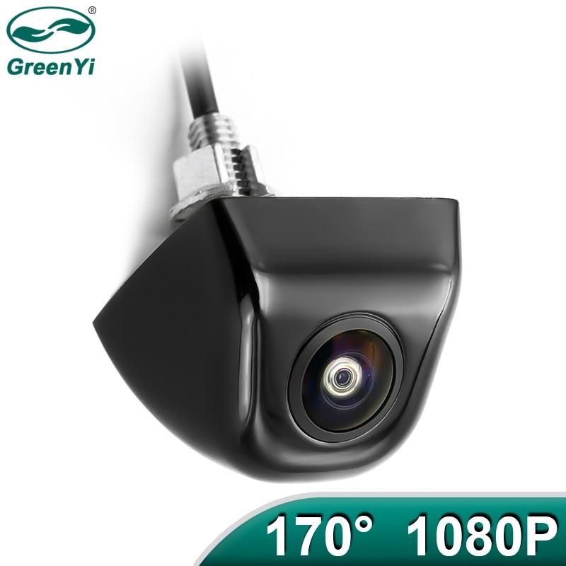 Greenyi ahd 1920x1080p câmera do carro 170 graus lente olho de peixe luz das estrelas visão noturna hd veículo câmera de visão traseira