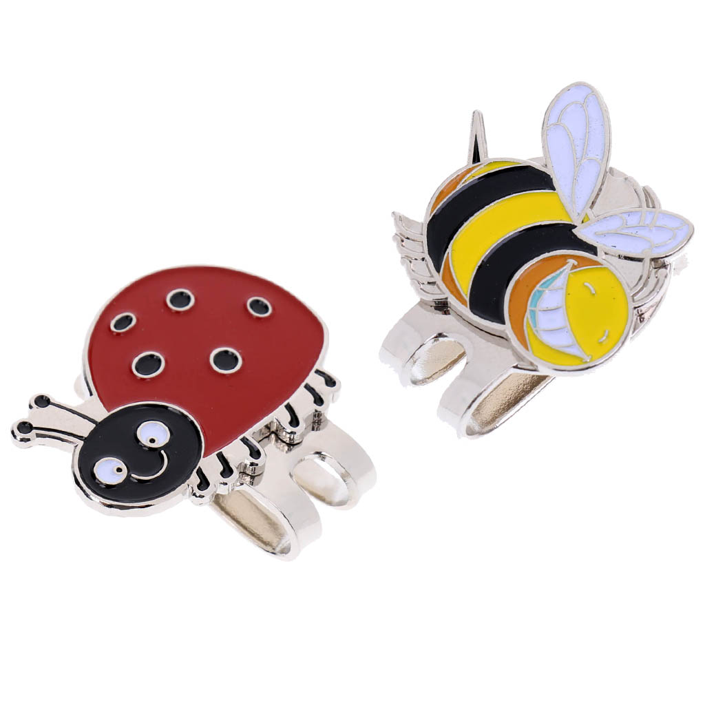 2Pcs Lightweight Golf Ball Marker With Protable Alloy Hat Clip With Magnetic Golf Ball Marker Hat Clip For Wen Women