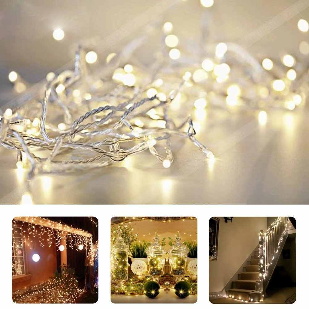 1/2/3/4/5M Led Guirlande String Lights Kerstboom Wedding Straat Decoratie Waterdichte fairy Light Indoor Outdoor Batterij Lamp