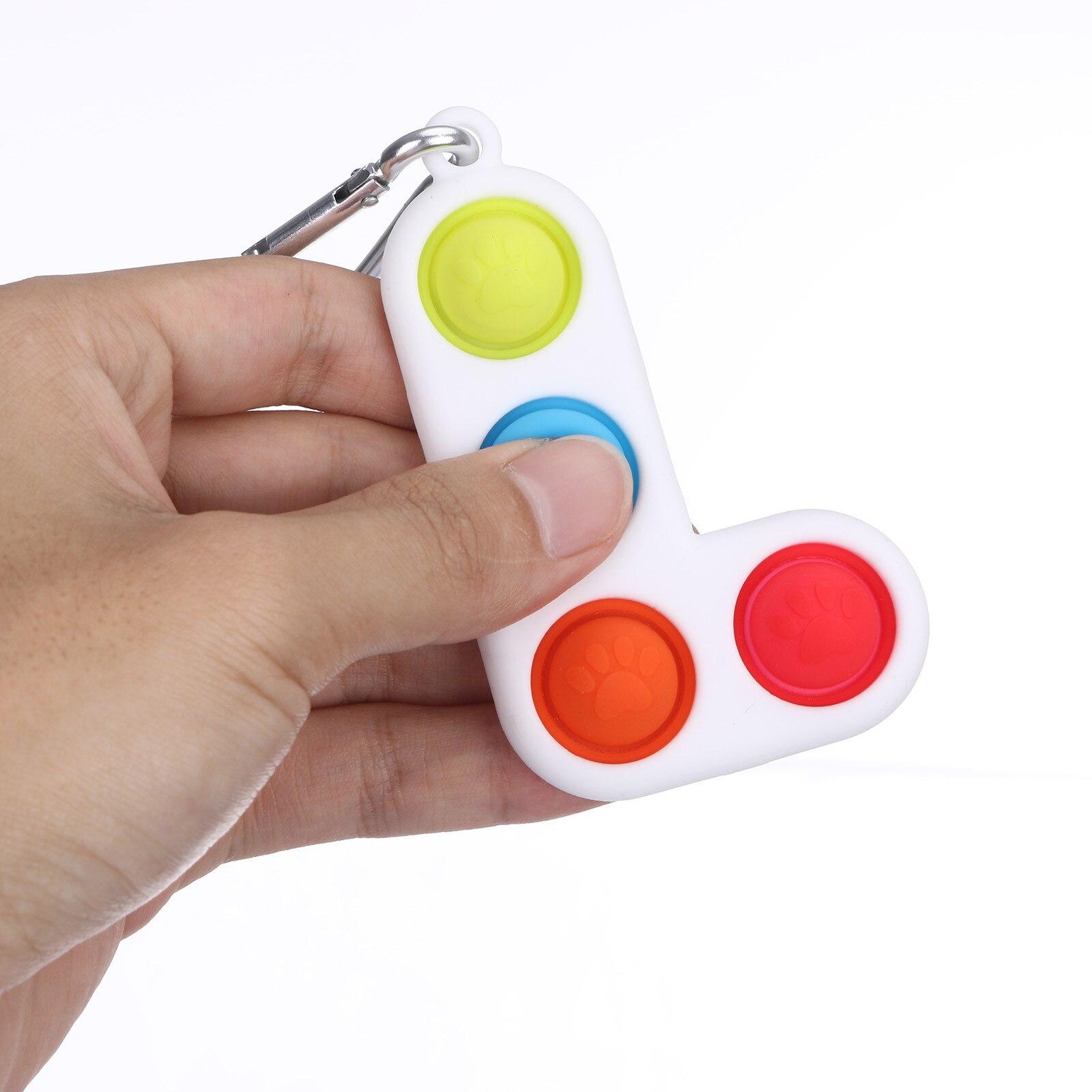 Fitget Toy Fidgets Simpel Dimpel Mini Anti-Stress-Board Pop-It-Keychain-Controller Kids img4