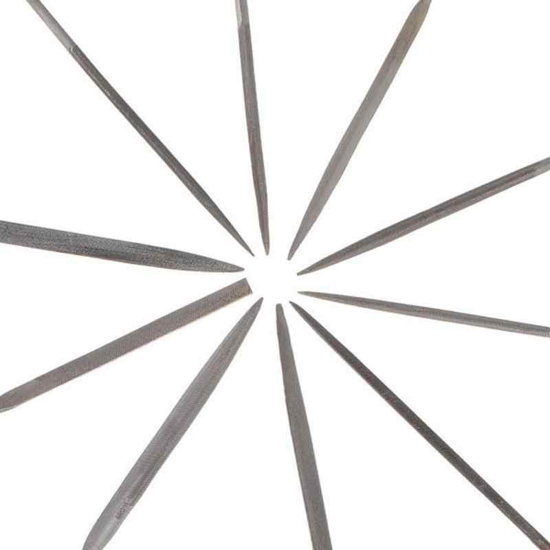 10 قطعة/المجموعة الإبر المعدنية ملف للزجاج حجر جواهرجية الماس نحت الخشب الحرفية الخياطة اليد الملفات أدوات