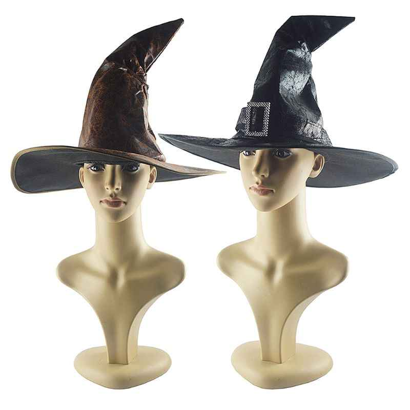 Halloween Mago Strega Cappello Del Partito di Travestimento Cap Vestito Operato Costume Cosplay Accessori Decor