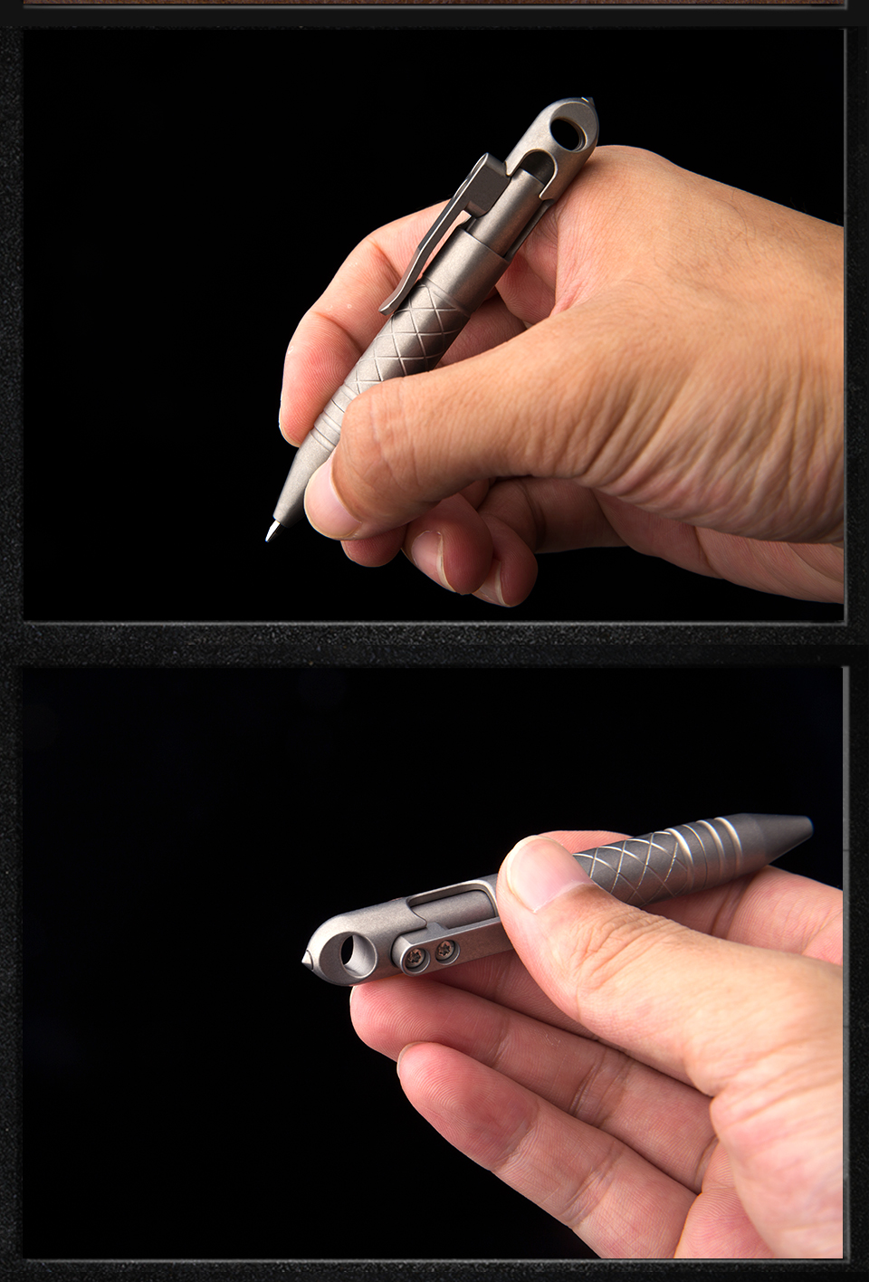 quebrada auto-defesa tático caneta ferramenta de sobrevivência ao ar livre