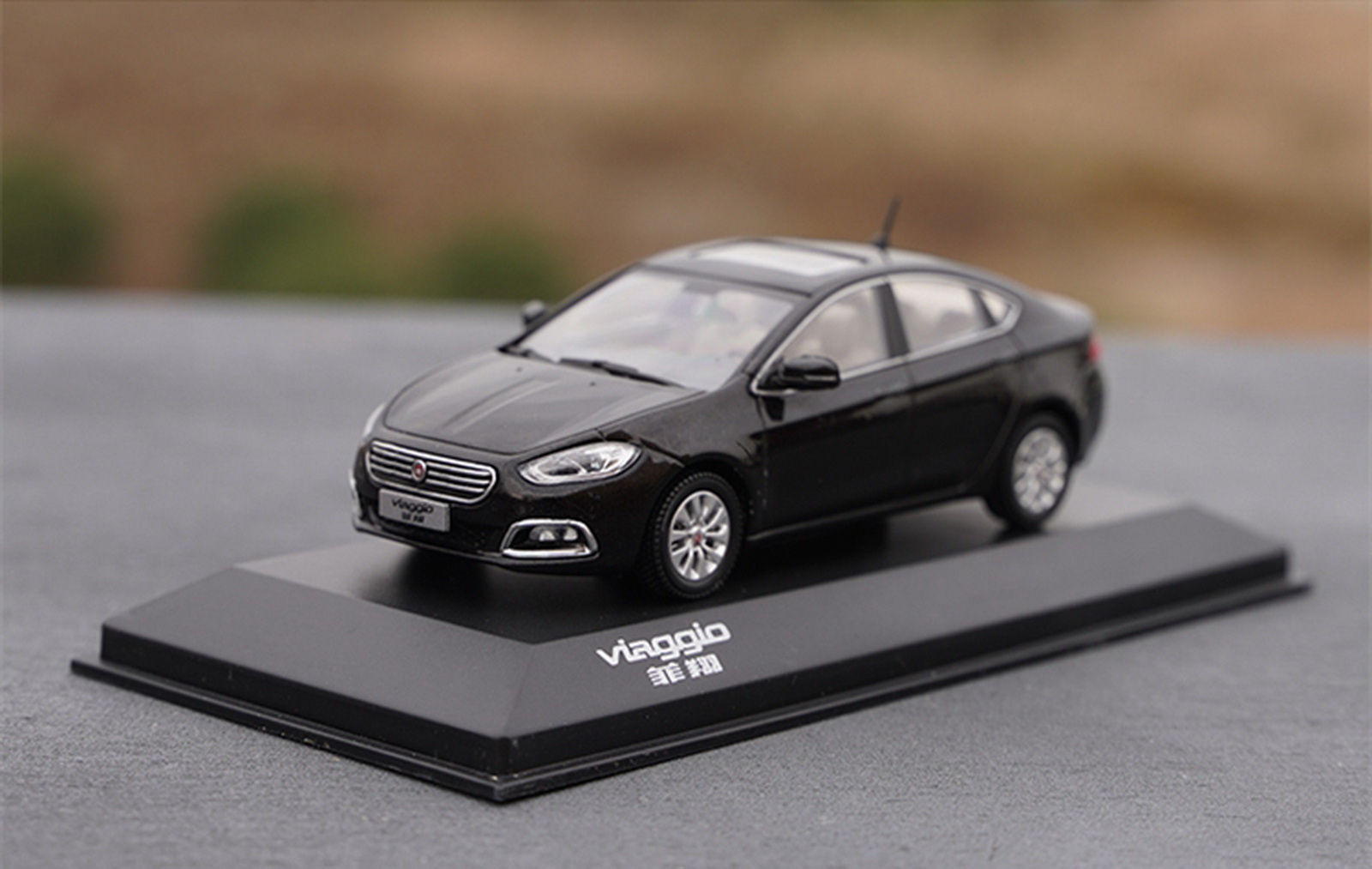 1/43 Scale Fiat viaggio Black Diecast Car Model Toy Collection Gift NIB