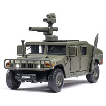 1:32 Hummer M1046 Military car model Explosion proof Armored vehicle with sound light alloy toy car model diecast toy vehicles(China)