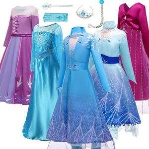 Image 2 - Женский костюм «Снежная Королева», маскарадное вечернее платье королевы Эльзы, сестры принцессы Анны, для девочек