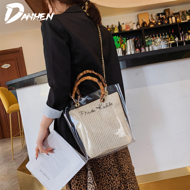 Luxury Handbags Jelly Composite Handbag Women Bags Designer Fashion Transparent Bags for Women Shoulder Bag with Large Capacity in Shoulder Bags from Luggage Bags