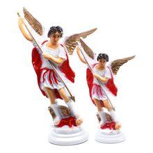 Красный Ангел Пластик Священная Статуя Украшения Христианство церкви домашний декоративный светильник