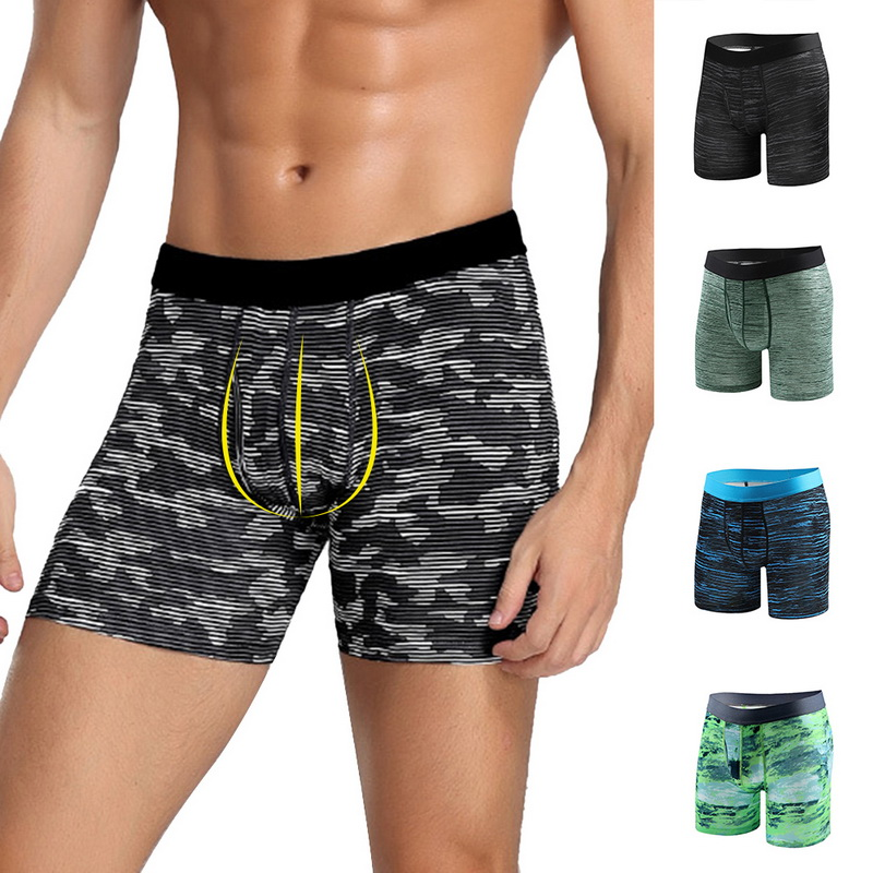 Mens Compression Quick Dry Sport Shorts Boxer Briefs Trunks Tights Bathing Suit