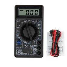 1 sztuk DT830B AC/DC miernik cyfrowy multimetr prądu lcd 750/1000V woltomierz amperomierz miernik rezystancji wysokie bezpieczeństwo ręczny miernik cyfrowy multimetr