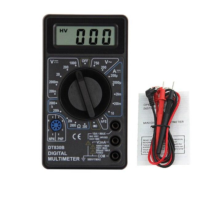 1Pcs DT830B AC/DC LCD Digitale Multimeter 750/1000V Voltmeter Amperemeter Ohm Tester Hoge Veiligheid Handheld meter Digitale Multimeter