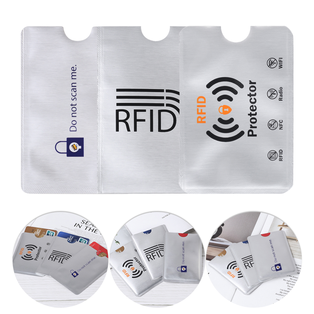 New 10pcs Anti Theft RFID Blocking Card Protector Sleeve To Prevent Scanning Unauthorized Scanning Of Card Holder Accessories