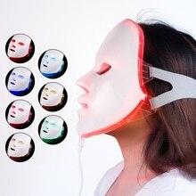 7 kolor światła terapia fotonowa LED maska na twarz odmładzanie skóry przeciw zmarszczkom usuwanie trądziku Lifting twarzy masażer Beauty Spa Device