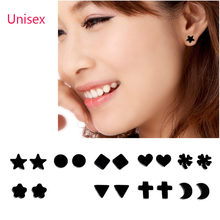 1 Pair No Piercing Magnetic Stud Earing For Women Men Kid Moon Dog Star Heart Flower Triangle Cross Small Earring Health Care(China)