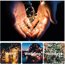 1/5/10/20/40 LED Star Lights String Twinkle Garlands Battery Powered Christmas Lamp Holiday Party Wedding Decorative Fairy Light(China)