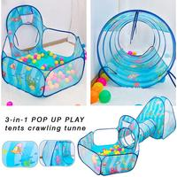 Children Play Tent Baby Toys Ball Pool Children Playhouse Baby Tent House Crawling Tunnel Ocean Kids Tent For Boy Girl Toddlers