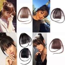 MISSQUEEN 4 цвета клип в волосы челка шиньон синтетический имитация челок волос кусок клип в наращивание волос