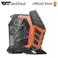 Darkflash K1 ATX Desktop-Computer Fall DIY Spezielle-Förmigen Persönlichkeit Stil Gaming Gehärtetem Glas Gabinete pc fall Gamer Große C