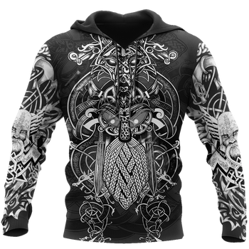 Odin Viking Tattoo 3D Printed Jacket Men/Women Harajuku Hoodie Unisex Casual Streetwear Sweatshirt Pullover sudadera hombre P653 1