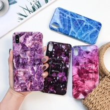 Glossy Marble Phone Case with Soft Silicone IMD for iPhoneX 7 8Plus iphone XR XS 11 Pro Max 6 6S 7Plus Back Cover