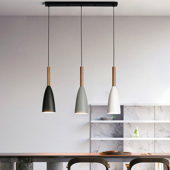 Modern 3 Pendant Lighting Nordic Minimalist Bar Pendant Lights kitchen island hanging lamps dining room Living Room lights E27 fashion personality nordic modern pendant lights minimalist dining room single industrial wind bar pendant lamps za fg710
