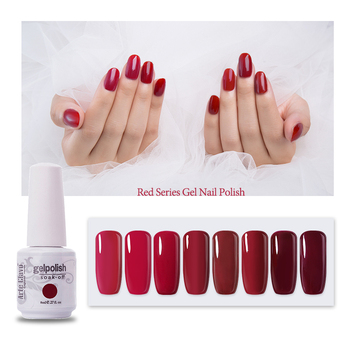 Arte Clavo Gel Nail Polish Nude Red 85 Color Hybrid Varnishes Nail Art Manicure 8ml UV LED Semi Permanent Enamels Top And Base polish top red 500g
