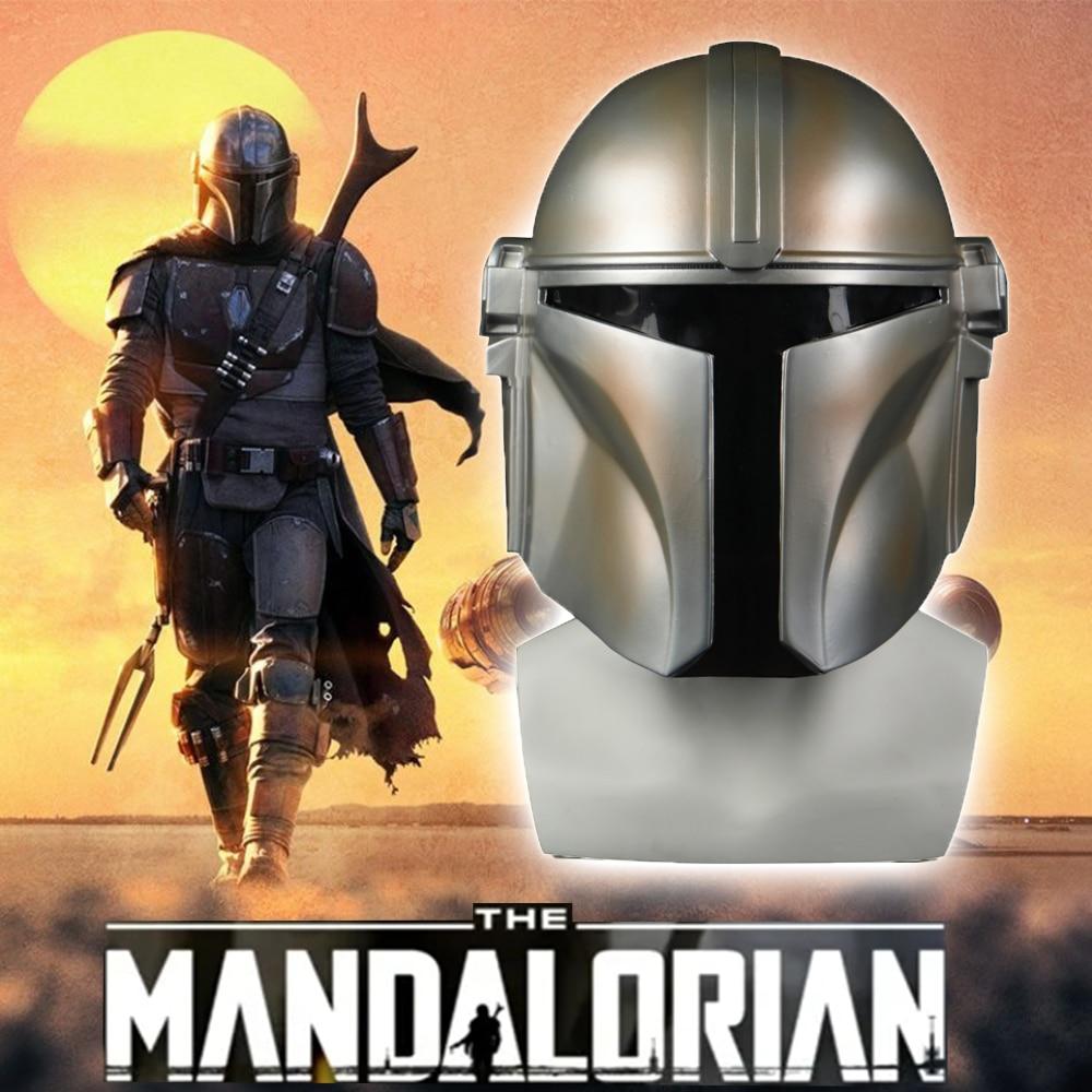 Star Wars Helmet The Mandalorian Cosplay Mask Pedro Pascal Mandalorian Soldier Warrior PVC Helmet Darth Vader Stormtrooper Prop
