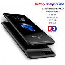 Chargeur de batterie Pour iPhone 11 pour iPhone 5S SE 6 6S 7 8 Plus X XR XS MAX Pro Portable Chargeur De Banque De Puissance