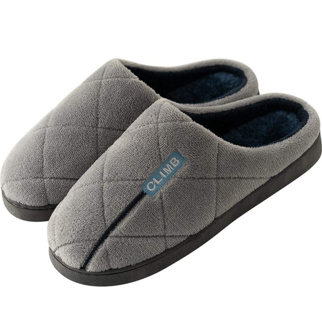 Shoes Couples Men Women Home Slippers Autumn Winter 2019 Fashion Casual Warm Non-slip Floor Indoor Shoes Mens Zapatos De Hombre