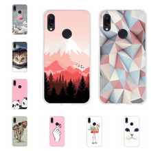 For Xiaomi Redmi 3 3s Case Soft TPU Silicone Note 4 4X 7 Pro Cover Geometric Patterned Go Bag