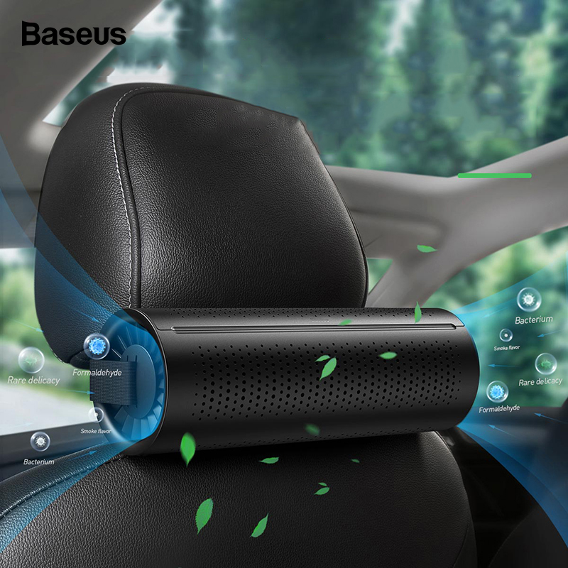 Baseus Nieuwe Auto Luchtreiniger Ionisator Negatieve Ionen Auto Luchtverfrisser Actieve Kool Formaldehyde Auto Air Cleaner Accessiories