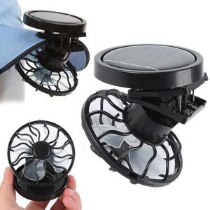 Outdoor Clip-On Solar Cell Fan Energy Panel Cooling Camping Blower summer for Fishing Camping Hiking TXTB1