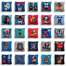 cartoon Cushion Cover Pillowcase Sofa animal Cushions Decorative Pillowcover Plush Home Decor Pillow Cases car seat square diy