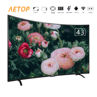 free shipping Hot sale 43 inch curved screen tv android 4k ultra hd led tv smart television with wifi