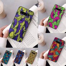 Yinuoda African fabric print DIY Phone Case For Samsung Galaxy A50 A30 A71 A40 S10E A60