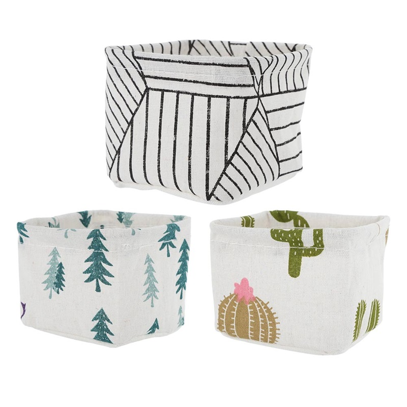 1pc Cactus Desktop Storage Basket Stationery Toy Cosmetic Jewelry Sundries Storage Basket Underwear Sock Organize Holder