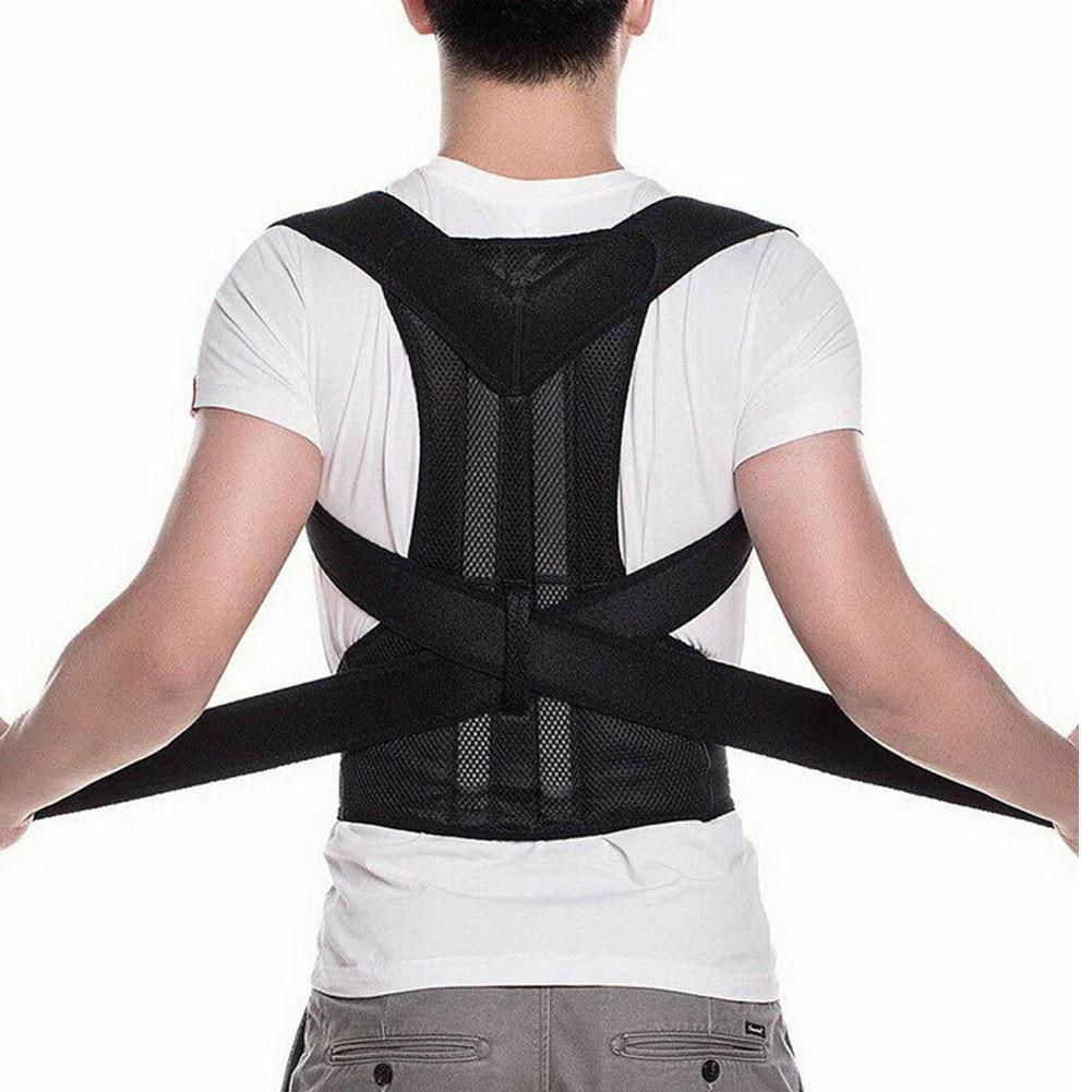 Unisex Back Brace Posture Corrector Orthotics Adult Neck Spine Clavicle Adjustable Belt Shoulder Health Care Breathable Support